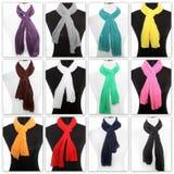 Färgglad skärm av scarves Royaltyfri Foto