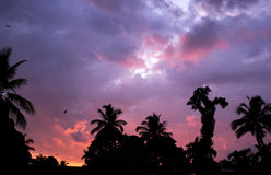 färgglad sky Arkivbilder
