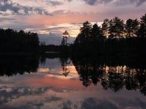 färgglad solnedgång Arkivbild