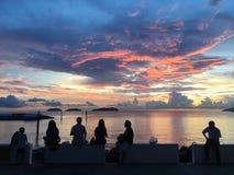 färgglad solnedgång Royaltyfria Foton