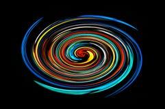 färgglad spiral Arkivfoton