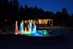 färgglad springbrunn Royaltyfri Foto
