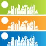 Färgglad stad Arkivfoto