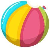 Färgglad strandboll på vit bakgrund royaltyfri illustrationer
