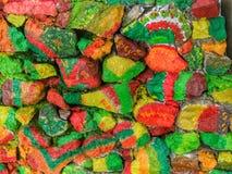 Färgglad tegelsten arkivbild