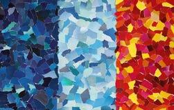 Färgglad textur som göras från sönderrivet papper Royaltyfri Foto