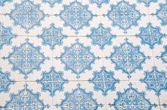 Färgglad väggtegelplattadesign av Lissabon, Portugal Royaltyfri Bild