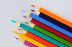 färgglada blyertspennor Arkivfoto