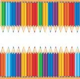 färgglada blyertspennor arkivfoton