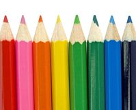 färgglada blyertspennor Royaltyfria Bilder