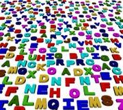 färgglada bokstäver för alfabet 3d vektor illustrationer