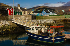 färgglada byggnader dingle ireland Royaltyfri Fotografi