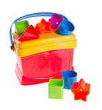 Färgglada childs toy formsorteraren på en bakgrund Royaltyfri Bild