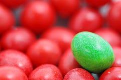 färgglada choklader Arkivbild