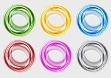 Färgglada cirklar Arkivfoto