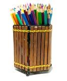 färgglada crayons Arkivbild