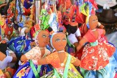 Färgglada dockor, Oranjestad, Aruba Fotografering för Bildbyråer