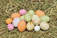 färgglada easter ägg Fotografering för Bildbyråer