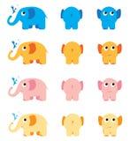 Färgglada elefanter Royaltyfri Bild