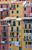färgglada facades Arkivfoton
