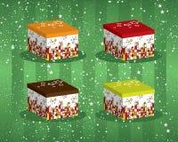 Färgglada festliga giftboxes Royaltyfri Foto