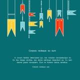 färgglada flaggor Fotografering för Bildbyråer