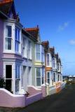 färgglada hus Arkivfoto