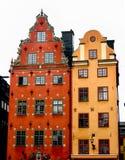 färgglada hus Arkivbild