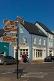 färgglada hus Trådgata dingle ireland Fotografering för Bildbyråer