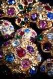 färgglada juvlar Arkivbild