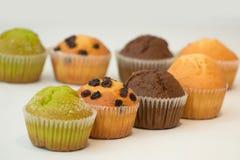 färgglada muffiner Fotografering för Bildbyråer