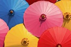 färgglada paraplyer Royaltyfri Bild