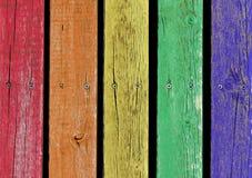 färgglada plankor Arkivbild