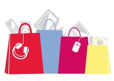 Färgglada shoppingpåsar Arkivbilder
