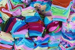 färgglada sockor Arkivbilder
