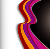 färgglada waves för bakgrund Arkivfoto