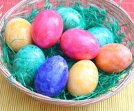 Färgglade ägg Arkivfoto