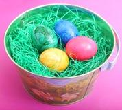 Färgglade ägg Fotografering för Bildbyråer