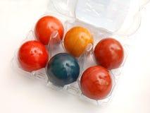 Färgglade ägg Arkivbild