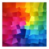 Färgglade abstrakt begreppfyrkanter Royaltyfri Bild