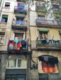 Färgglade Barcelona Royaltyfria Foton