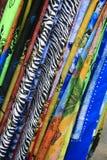 Färgglade bultar av torkduken Arkivbild