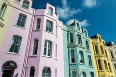 Färgglade byggnader Royaltyfri Bild