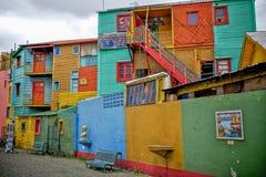 Färgglade byggnader i Buenos Aires Arkivbild