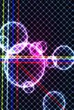Färgglade cirklar och fyrkanter Arkivfoto