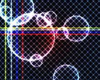 Färgglade cirklar och fyrkanter Arkivbilder