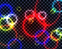 Färgglade cirklar och fyrkanter Arkivbild