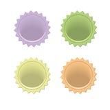 Färgglade emblem Royaltyfria Bilder
