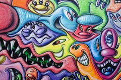 Färgglade grafitti royaltyfria foton