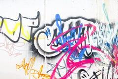 Färgglade grafitti Royaltyfri Fotografi